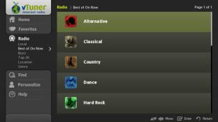 vTuner internet radio screenshot2