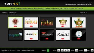 YuppTV screenshot